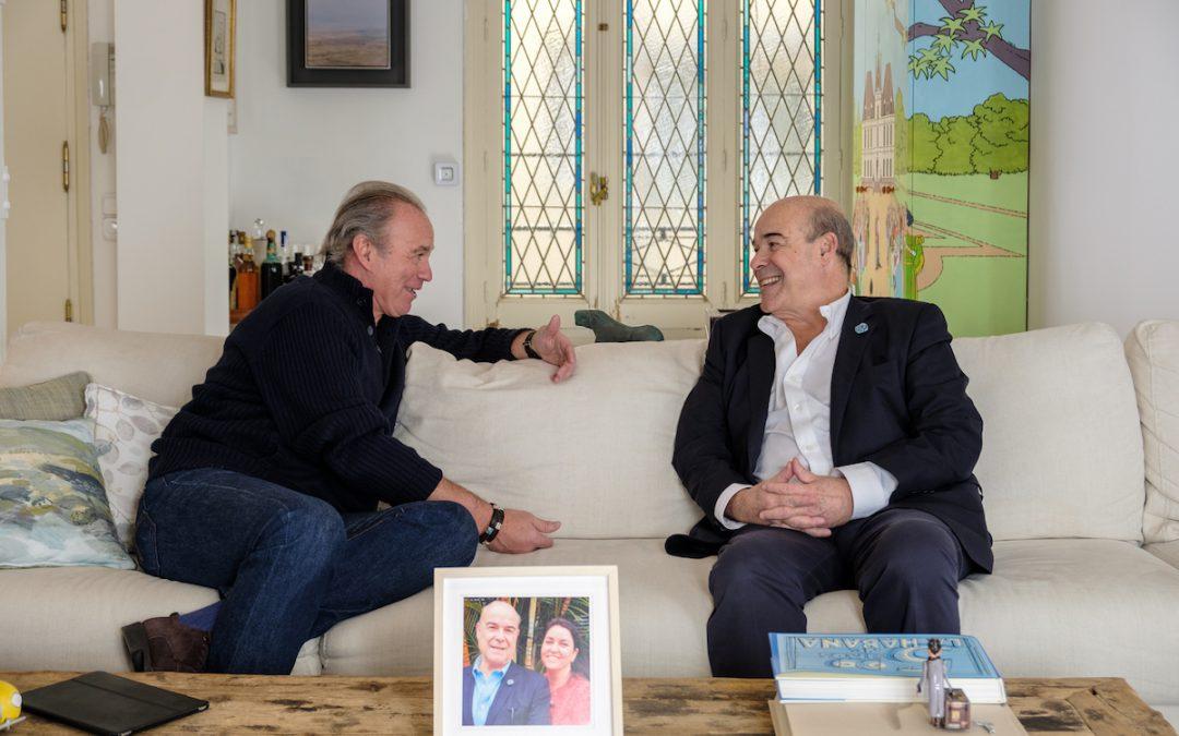 Antonio Resines y su mujer, Ana Pérez, reciben a Bertín Osborne en su casa de Madrid